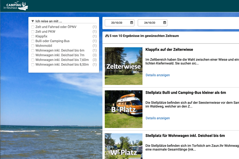Preview onlinebooking Camping in Neuhaus